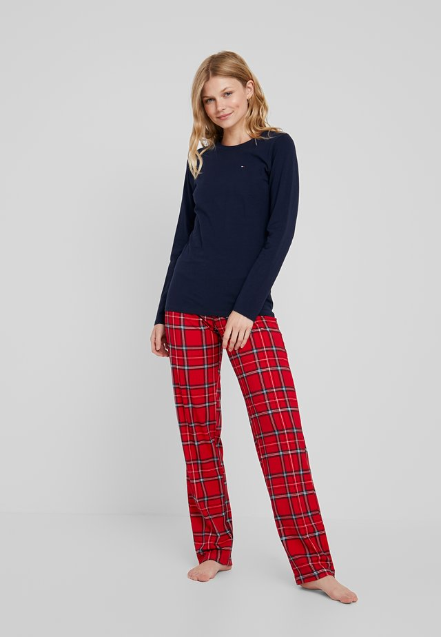 ORIGINAL PRINT SET - Pyjama set - navy blazer/tango red