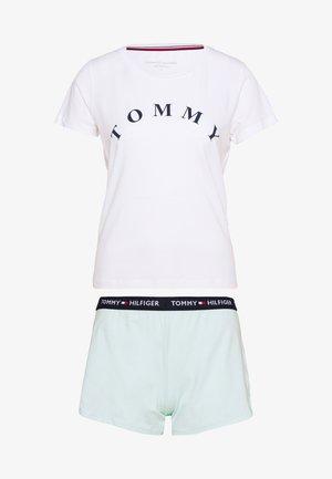 SLEEP SHORT SET - Pyjama - white/glacier