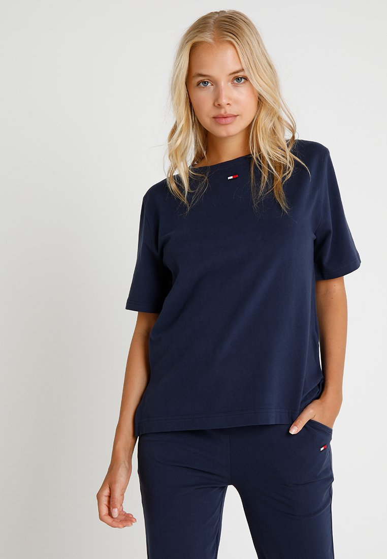 Tommy Hilfiger - TEE HALF - Haut de pyjama - blue