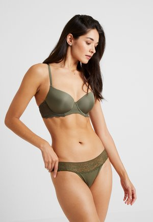 THONG 3 PACK - String - cardinal/olive night/faded denim
