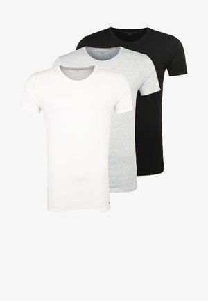 3 PACK - Caraco - black/grey heather/white