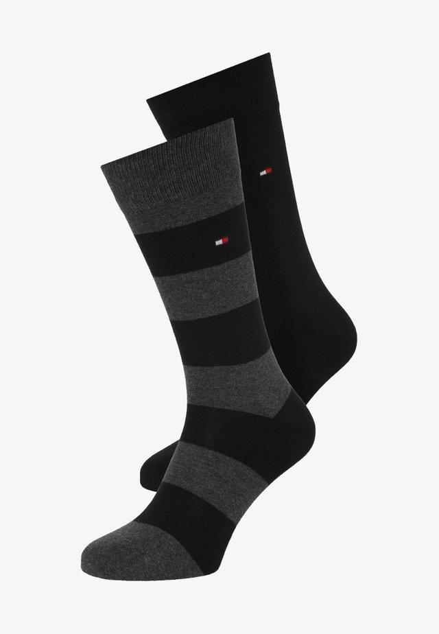 RUGBY 2 PACK - Socks - black