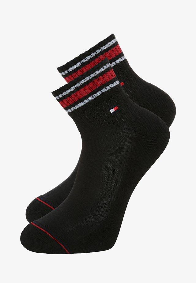 MEN ICONIC SPORTS QUARTER 2 PACK - Socks - black