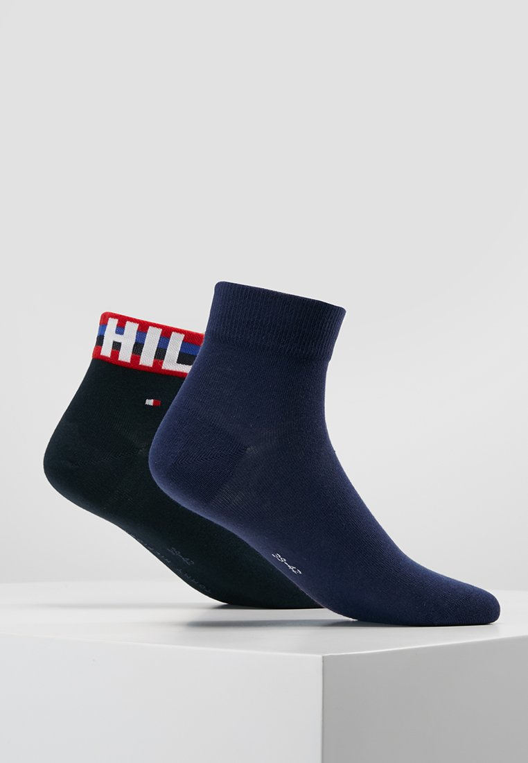 Tommy Hilfiger - MEN QUARTER 2 PACK - Socken - white/blue/red