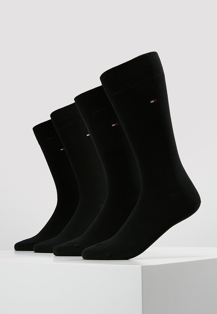 Tommy Hilfiger - MEN SOCK CLASSIC 4 PACK - Ponožky - black