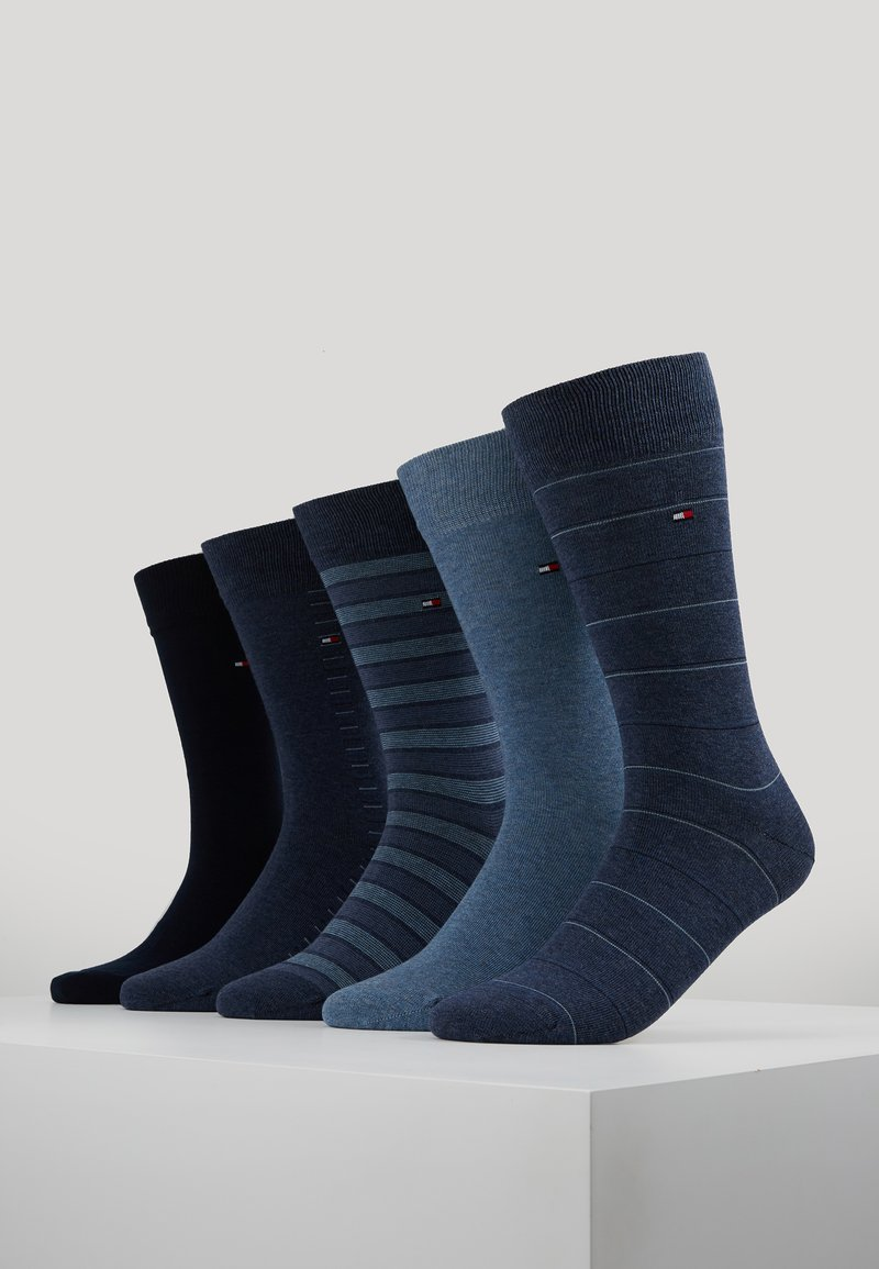 Tommy Hilfiger - MEN SHARP STRIPES GIFTBOX 5 PACK - Socken - dark navy