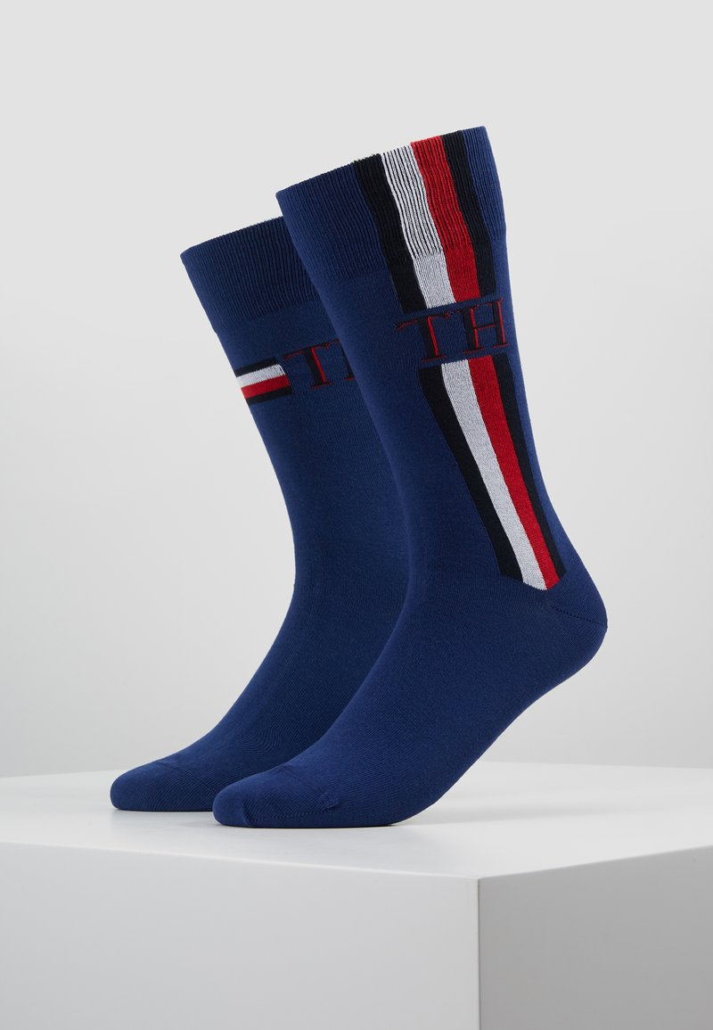 Tommy Hilfiger - MEN SOCK ICONIC STRIPE 2 PACK - Socken - dark blue
