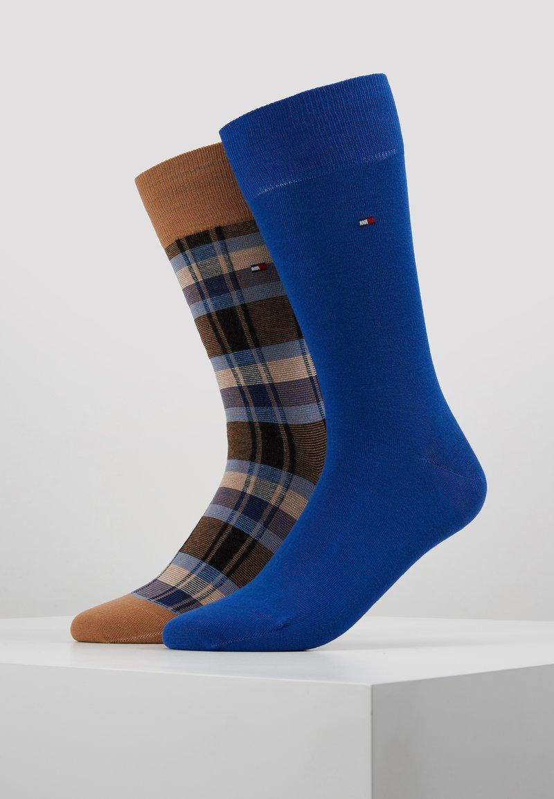 Tommy Hilfiger - MEN SOCK STRIPE PATTERN 2 PACK - Socken - brown/blue