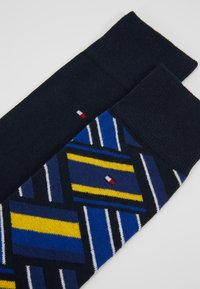 Tommy Hilfiger - MEN SOCK COLOR BLOCK 2 PACK - Calcetines - blue/yellow - 2