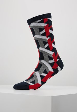 MEN SOCK  - Sukat - navy/red