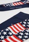 Tommy Hilfiger - JEANS  AMERICAN FLAG 2PACK - Socken - blue