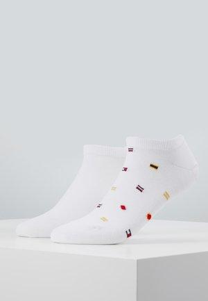 SMALL FLAGS 2 PACK - Socks - white