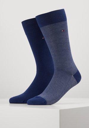 MICRO STRIPE 2 PACK - Strumpor - bright blue