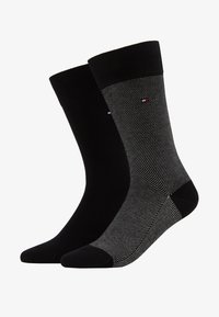 Tommy Hilfiger - MICRO STRIPE 2 PACK - Chaussettes - black - 1