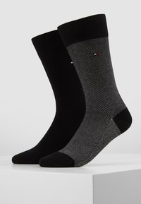 Tommy Hilfiger - MICRO STRIPE 2 PACK - Chaussettes - black - 0