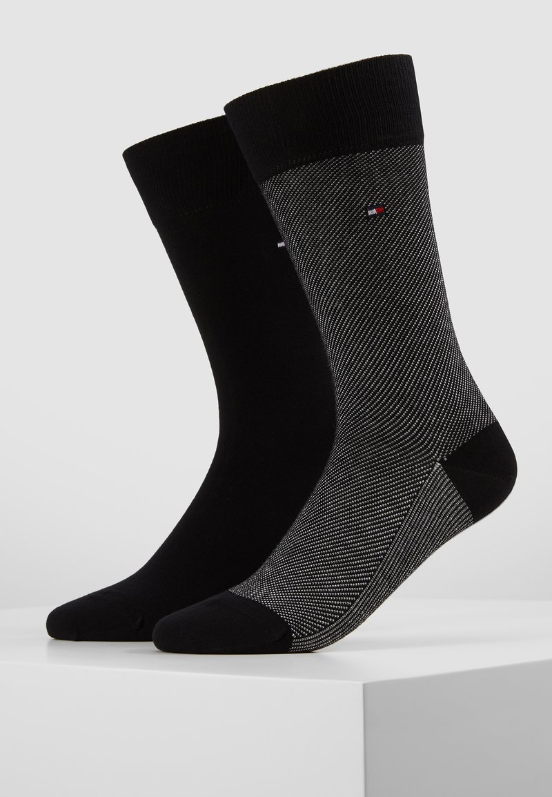 Tommy Hilfiger - MICRO STRIPE 2 PACK - Chaussettes - black