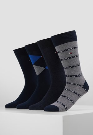 4 PACK MEN GIFTBOX ARGYLE - Ponožky - dark navy
