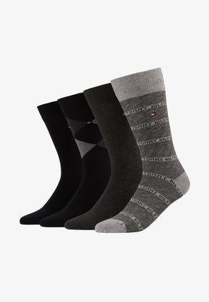 4 PACK MEN GIFTBOX ARGYLE - Sokken - black