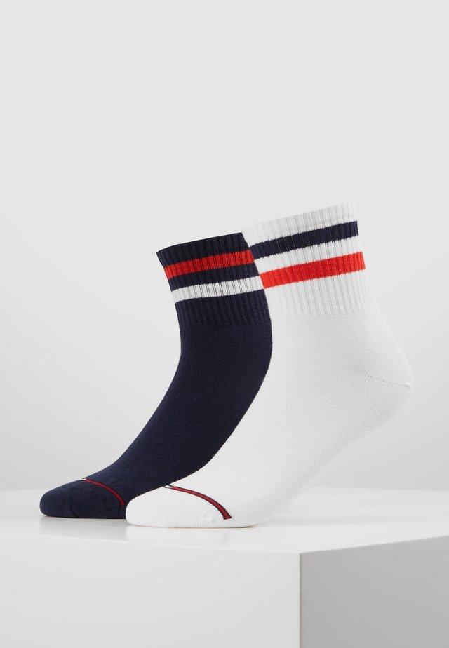 QUARTER STRIPE 2 PACK - Socks - dark navy