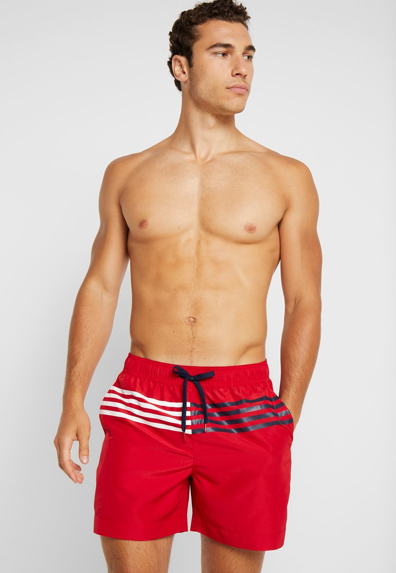 Tommy Hilfiger - MEDIUM DRAWSTRING - Swimming shorts - tango red