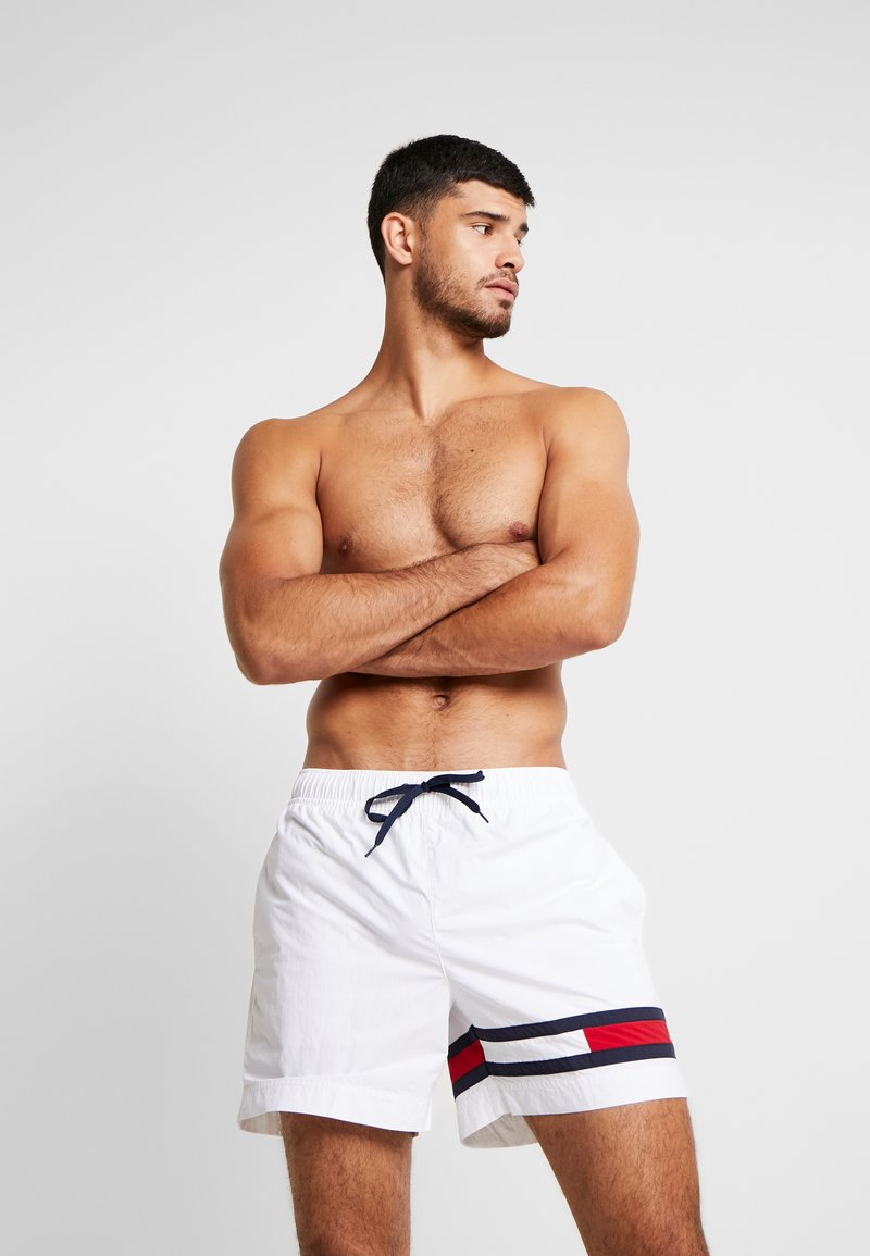 Tommy Hilfiger - MEDIUM DRAWSTRING - Swimming shorts - white