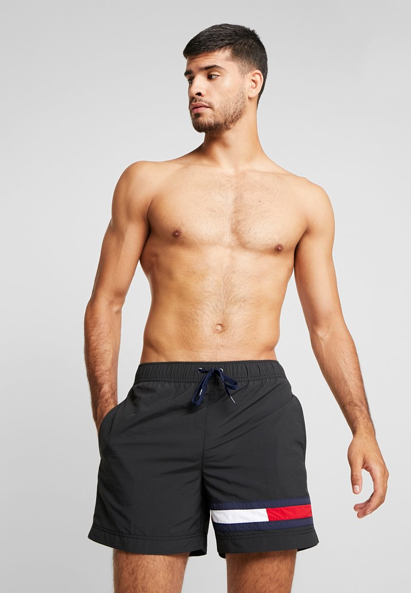 Tommy Hilfiger - MEDIUM DRAWSTRING - Plavky - black