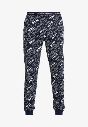 PANT LOGO - Pantalón de pijama - blue