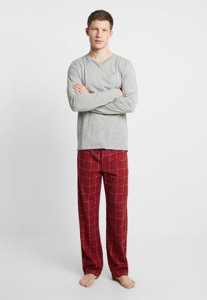PANT SET - Pijama - red/mottled grey