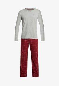 Tommy Hilfiger - PANT SET - Pijama - red/mottled grey - 4