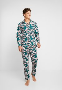 Tommy Hilfiger - LOGO WOVEN SET - Pyjama - green - 1
