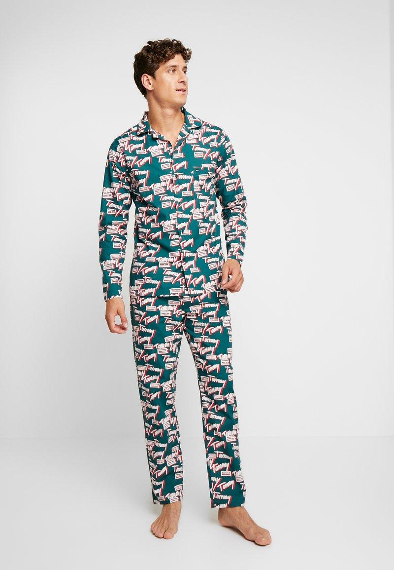 Tommy Hilfiger - LOGO WOVEN SET - Pyjama - green