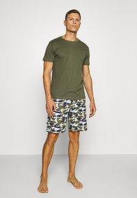 Tommy Hilfiger - WOVEN SET PRINT - Pyjama - green - 1