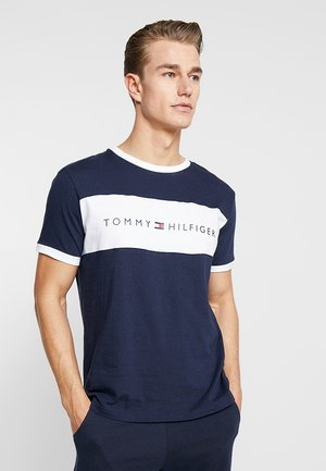 TEE LOGO FLAG - Pyjama top - blue