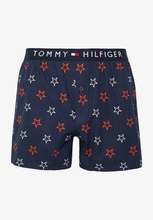 WOVEN BOXER PRINT - Boxer shorts - dark blue/ red