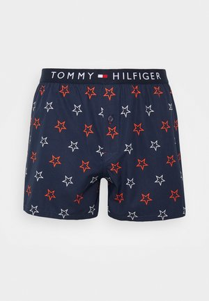 WOVEN PRINT - Boxershort - dark blue/ red