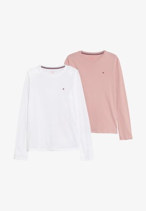 TEE 2 PACK - Caraco - white/light pink