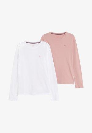 TEE 2 PACK - Tílko - white/light pink