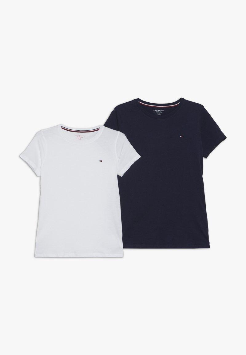Tommy Hilfiger - TEE 2 PACK  - T-shirt basic - dark blue/white