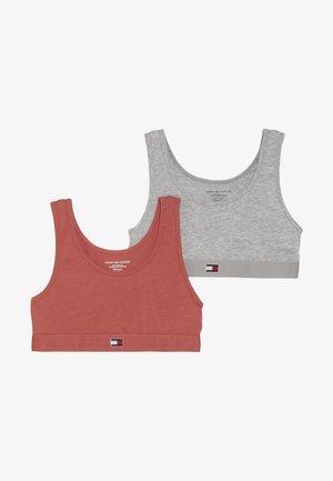 BRALETTE 2 PACK - Korzet - red/grey