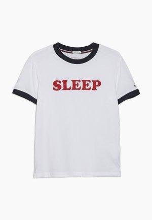 TEE SLOGAN - Pyžamový top - white