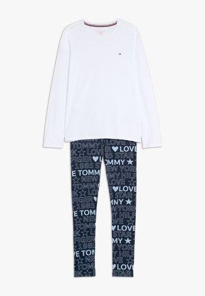 TEXT - Pyžamová sada - white/dark blue