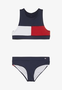 Tommy Hilfiger - CROP TOP SET - Bikiny - blue - 2