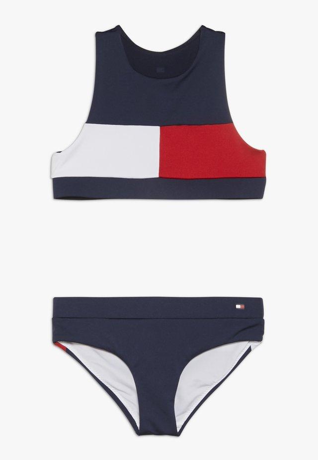 CROP TOP SET - Bikinit - blue
