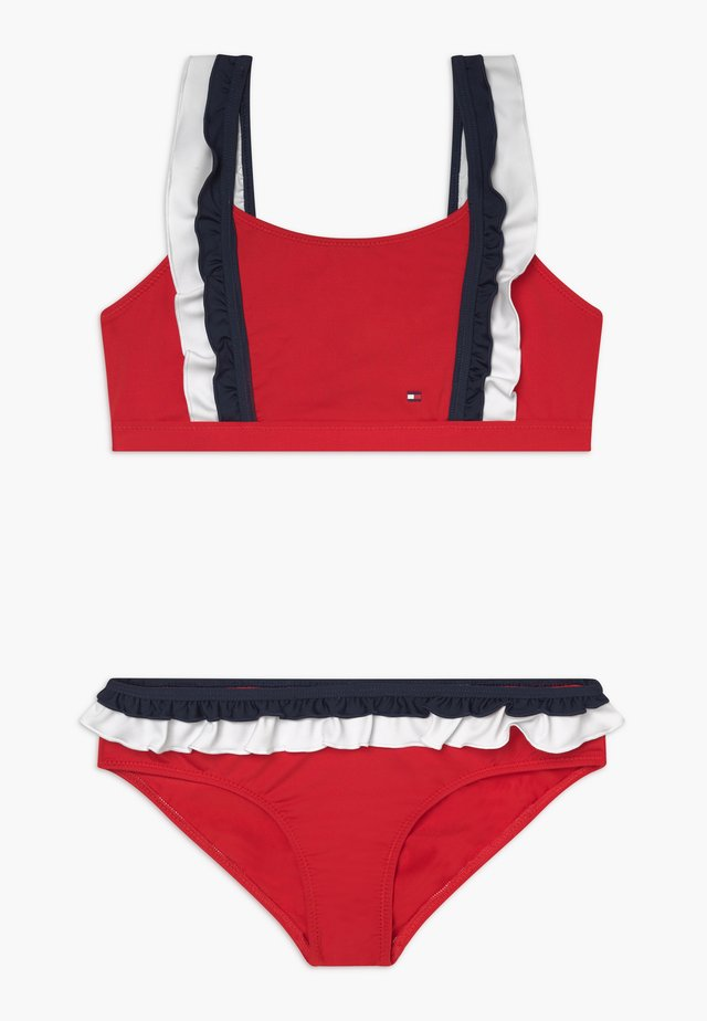 BRALETTE SET - Bikinier - red