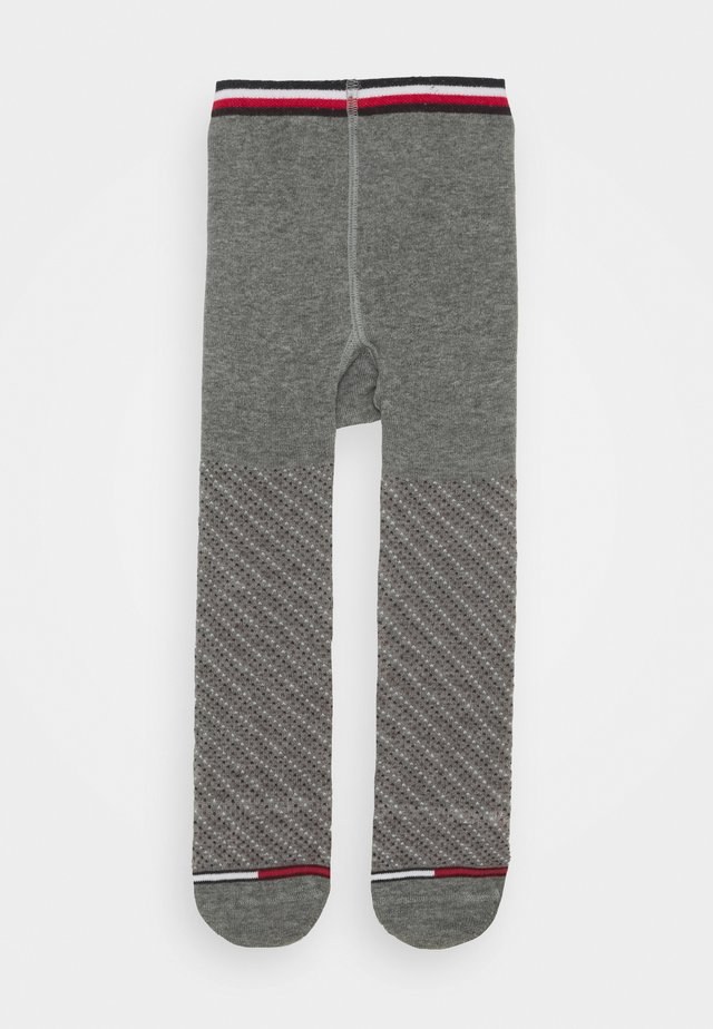 BABY TIGHTS SMALL DOTTED STRIPE - Tights - middle grey melange