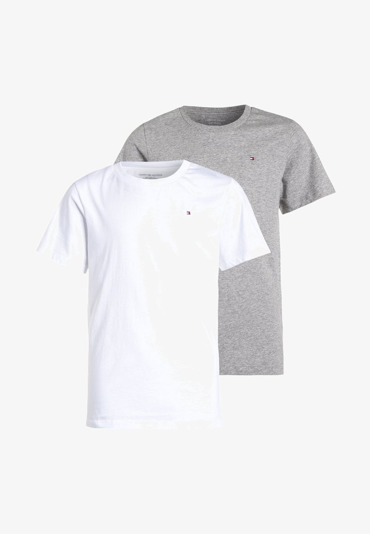 Tommy Hilfiger - 2 PACK - T-shirts basic - white/grey heather