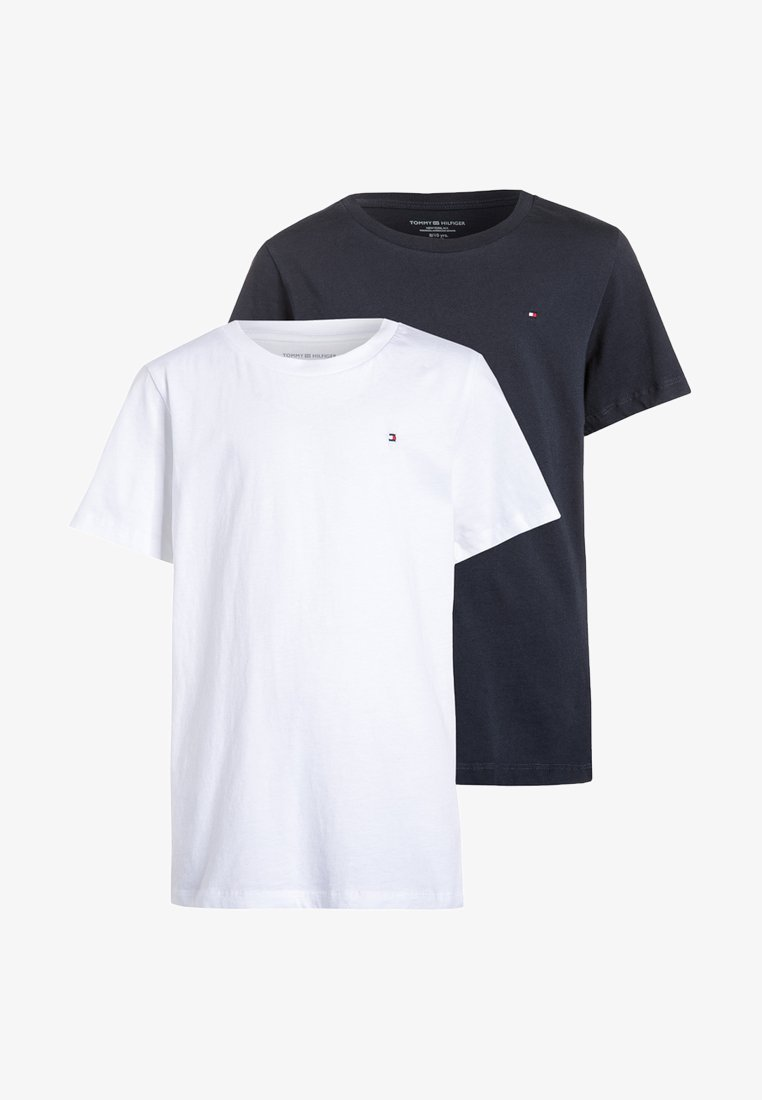 Tommy Hilfiger - 2 PACK - T-shirt - bas - white/navy