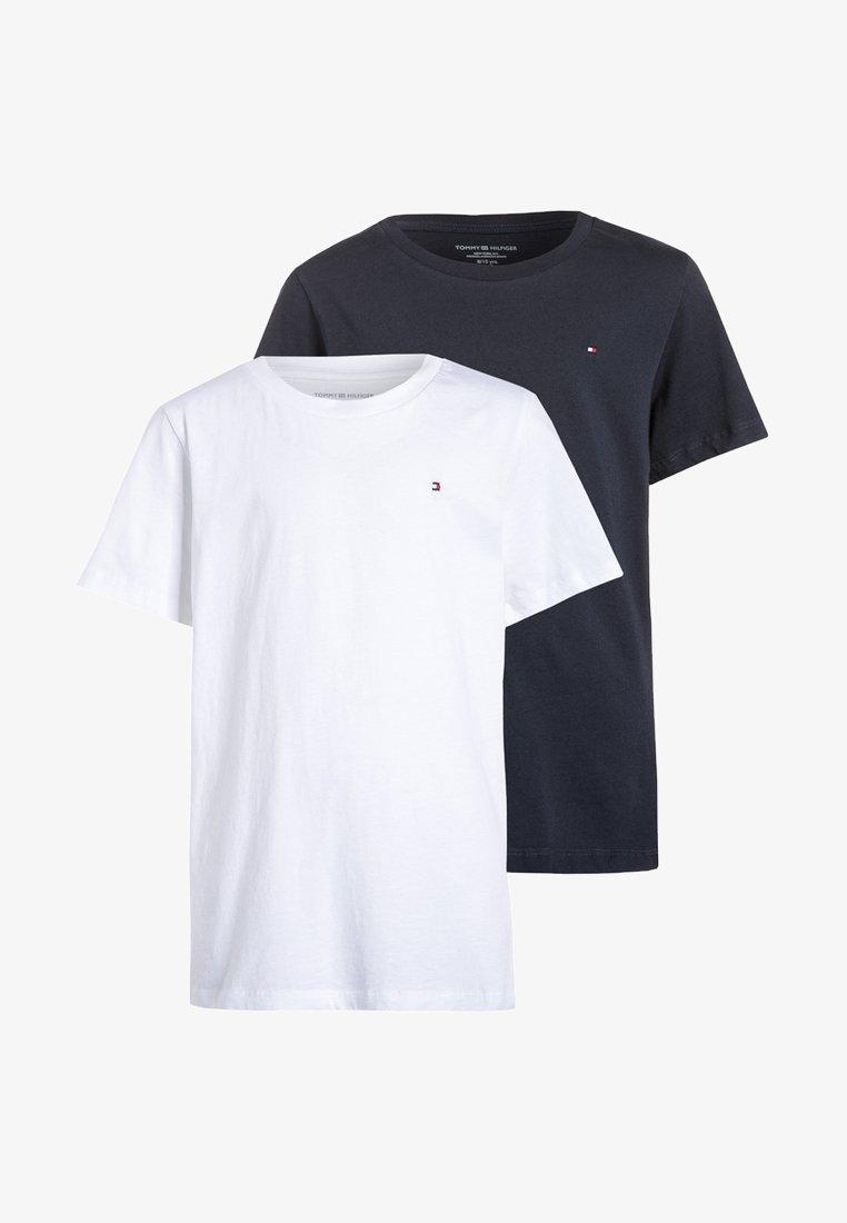 Tommy Hilfiger - 2 PACK - Jednoduché triko - white/navy