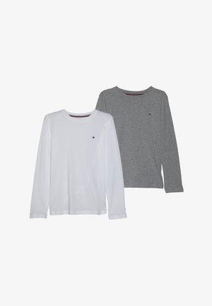 TEE 2 PACK - Top sdlouhým rukávem - white