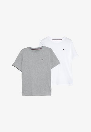 TEE 2 PACK  - T-paita - mottled light grey